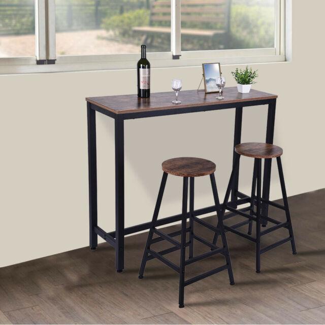 Superb Set Of 2 28 Inch Vintage Wood Bar Stool Dining Chair Counter Height Kitchen Bar Short Links Chair Design For Home Short Linksinfo