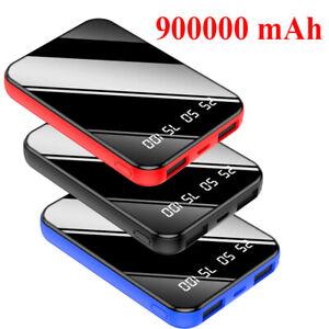 Portable Mini 900000mAh Power Bank UltraThin External Battery Backup Charger