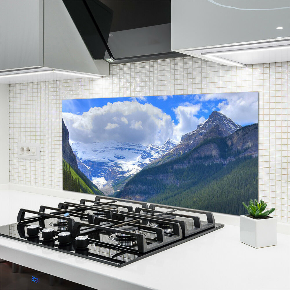 Crédence Crédence Crédence de cuisine en verre Panneau 120x60 Paysage Montagnes b561e4