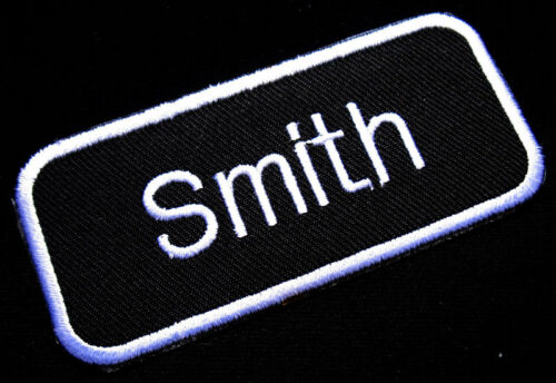 NAME TAG SMITH EMBROIDERED IRON ON PATCH Free Shipping