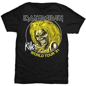 Iron-Maiden-039-Killer-World-Tour-1981-039-Vintage-Style-T-Shirt-Official-Merch