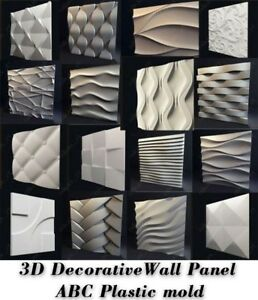 Molds-For-3D-Tile-Panels-ABS-Plastic-Form-Mold-Plaster-Wall-Stone-Wall-Art-Decor