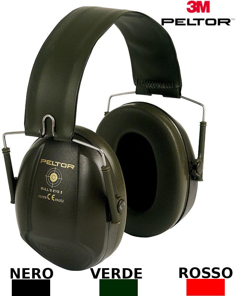 3M PELTOR Bull's Eye Los Auriculares projoector 27 dB plegable H515FB-516-RD