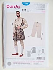 BURDA PATTERN 6888 RENAISSANCE COSTUMES MENS SIZES 36 38 40 42 44 46 48 50 UNCUT