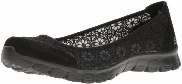 Skechers Women Sz 7 Air Cooled Memory Foam 23413 Ez Flex 3.0 Majesty Textile BLA