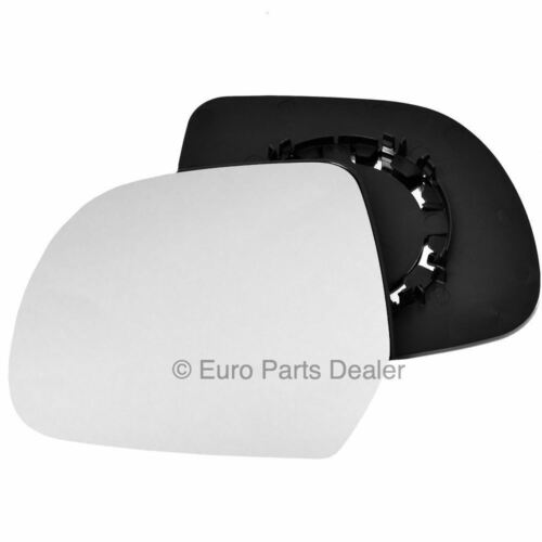 Passenger side Clip Convex wing mirror glass for Dacia Duster 10-14