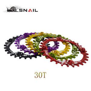 SNAIL-Bike-Crank-104BCD-Round-30T-Chainring-Narrow-Wide-Circle-Crankset-Plate