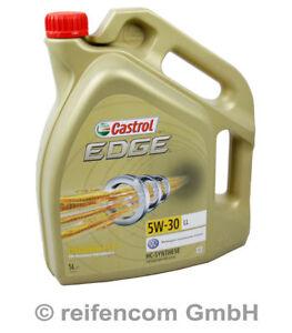 Motoröl Castrol Edge Titanium FST LL Longlife VW 507 00 5W-30 15669E 5 Liter 5L