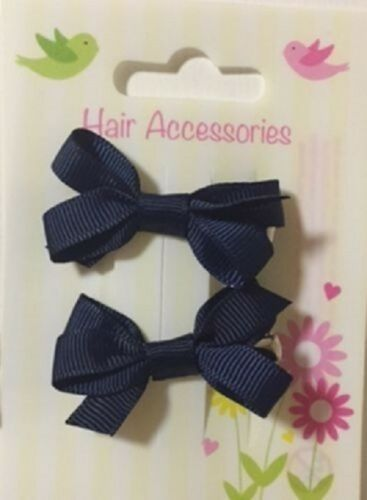 2 PC MINI PER CAPELLI CLIP GROS Grain Nastro Fiocco Pretty Baby Girl ALLIGATOR diapositive Pin