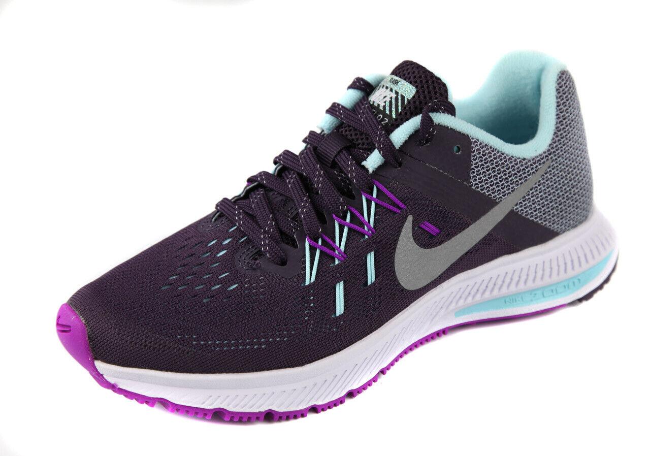 Nike Women's Dark Purple Zoom Winflo 2 Flash Sneakers shoes Ret  100 New