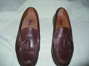 yy-BASS-WEEJUNS-STRATTON-SOFT-BROWN-LEATHER-TASSLE-LOAFER-MENS-8-5-D