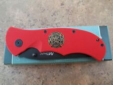 MTECH FIREMAN POCKET KNIFE WITH POCKET CLIP (NEW IN BOX) MT331