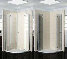 viertelkreis duschkabinen aus edelstahl ebay. Black Bedroom Furniture Sets. Home Design Ideas