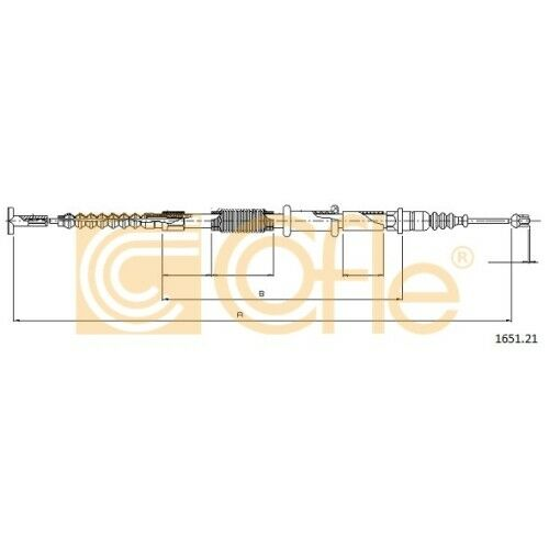 Cofle handbremsseil câble frein de stationnement FIAT ALFA ROMEO LANCIA 2975321