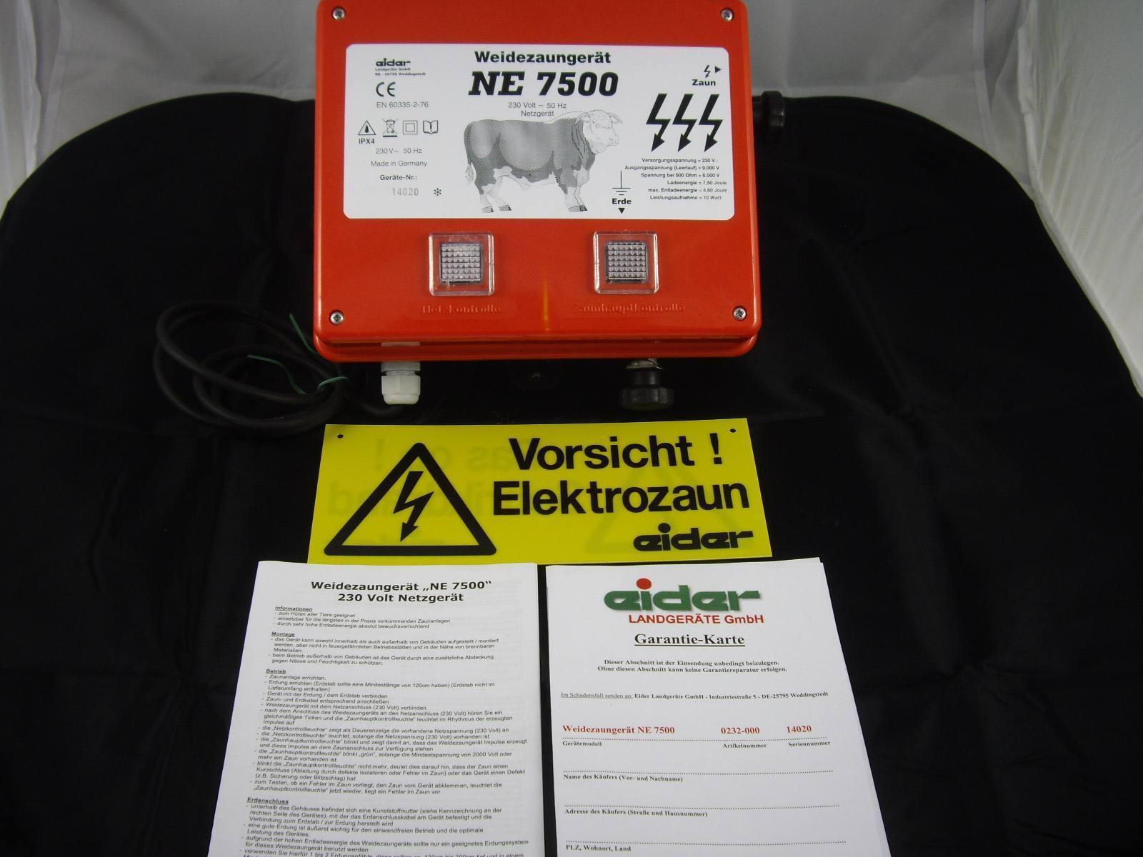 Eider ne 7500 fuerte pradera alimentación-electrificada adaptador de alimentación-electrificada pradera wildabwehr viehhüter 28435c