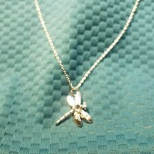 925 Silver Dragon Fly Pendant With Chain & Gift Box Ships With Tracking