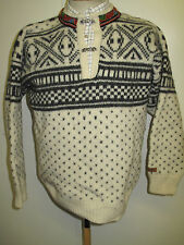 Traditional Vintage Nordic Snowflake Patterned Jumper Size L UK 14/16