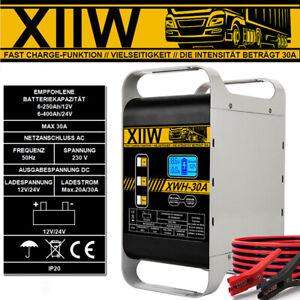 ⭐⭐ 400Ah Autobatterie Ladegerät 12/24V Kfz Pkw 30A Batterie Starthilfe Werkstatt