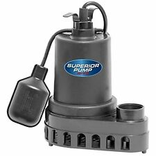 Superior Pump 92370 Thermoplastic Sump Pump With Tethered Float Switch 13 Hp