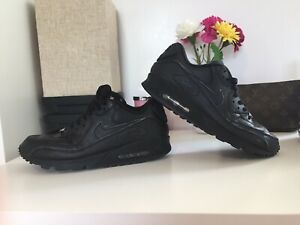 Details about Nike Air Max 90 Leather BlackBlack 7.5 M US Men's (302519 001)
