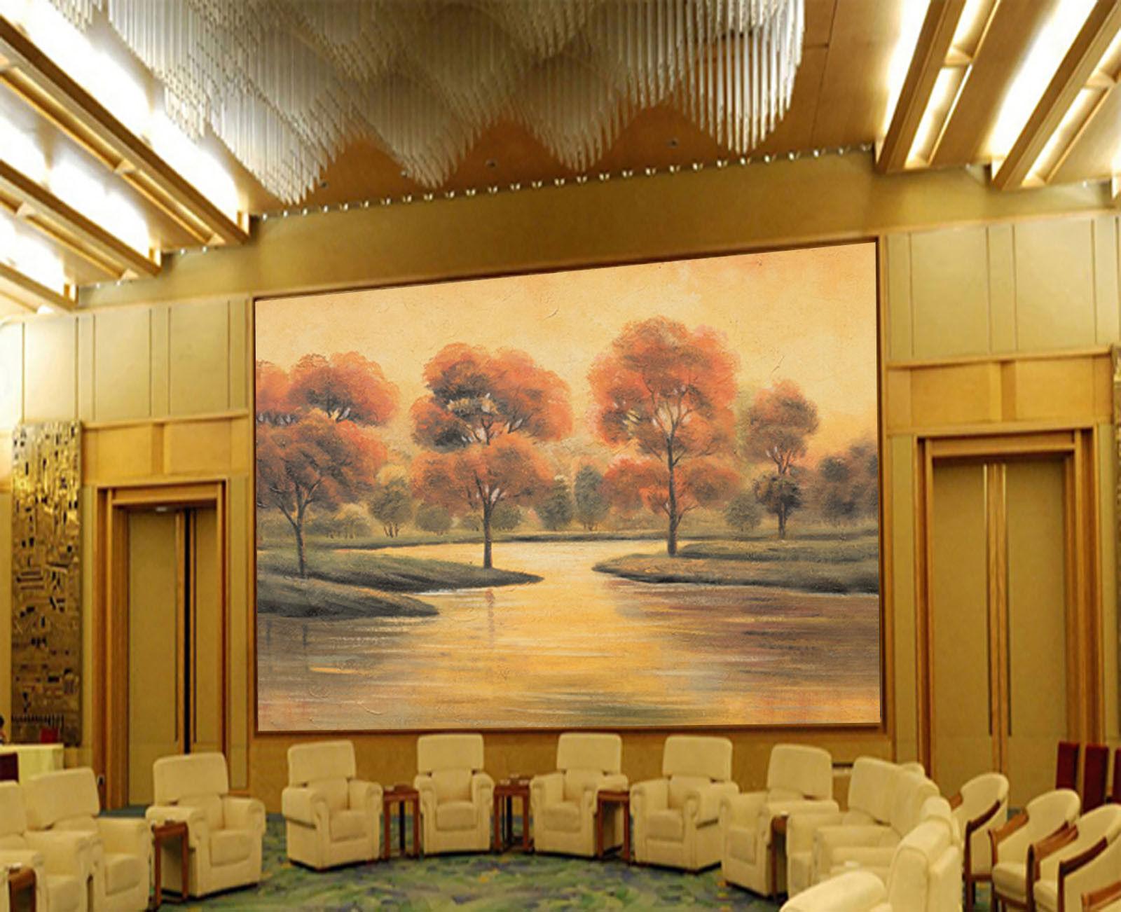 3D 3D 3D Flussufer Bäume 84 Tapete Wandgemälde Tapete Tapeten Bild Familie DE Summer | Sonderaktionen zum Jahresende  52449d
