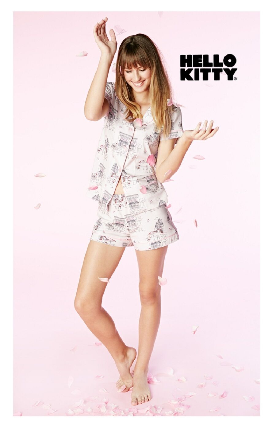 Bed Head Pajamas Hello Kitty Cafe Stretch S S Classic Shorty PJ Set 1093-S-4019