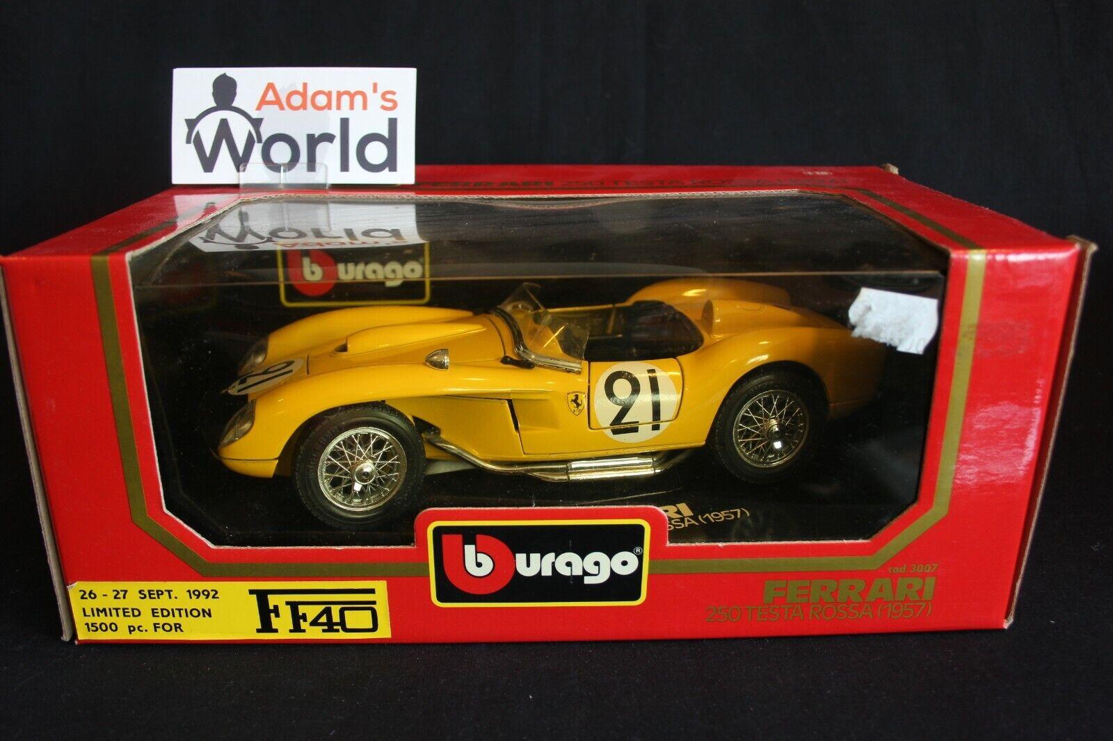 Bburago Ferrari 250 Testa Rossa 1957 1 18  21 Equipe Belge 24h LM 1958 (PJBB)