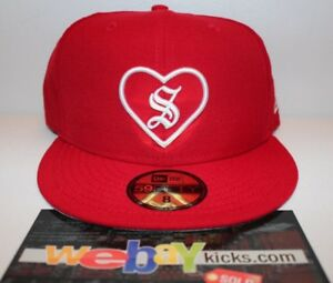 0fd2f3eb47f New Era Supreme New York Heart Red White Size 8 Fitted Cap Hat ...
