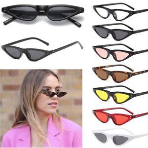 a6200476f4a42 Vintage Small Cat Eye Sunglasses Fashion Women Shades Flat Top UV400 ...