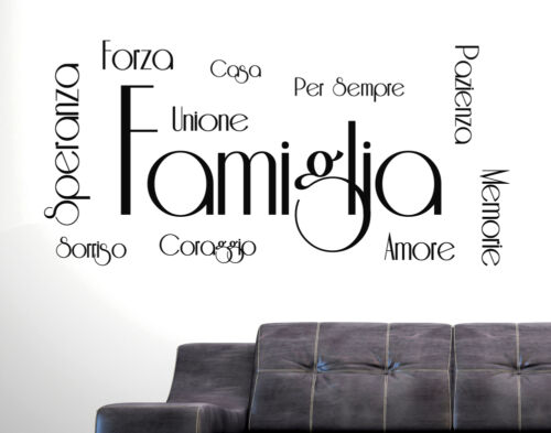 Wall decals Phrase Wall Stickers Family Love Strength Patience Courage house