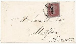 1852-4-MARGIN-1d-IMPERF-COVER-360-HEXHAM-UDC-MATFEN-ARRIVAL-TO-Wm-SAMPLE