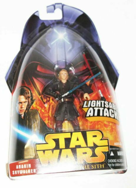 Hasbro Star Wars Revenge Of The Sith Anakin Skywalker Lightsaber Attack Action Figure For Sale Online Ebay