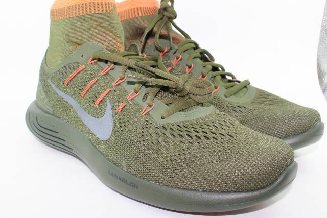 NIKE LUNARGLIDE 8 DBSIDE Uomo SIZE COMFORTABLE 12.0 LEGION VERDE NEW COMFORTABLE SIZE LIGHT WEIGHT 73223e