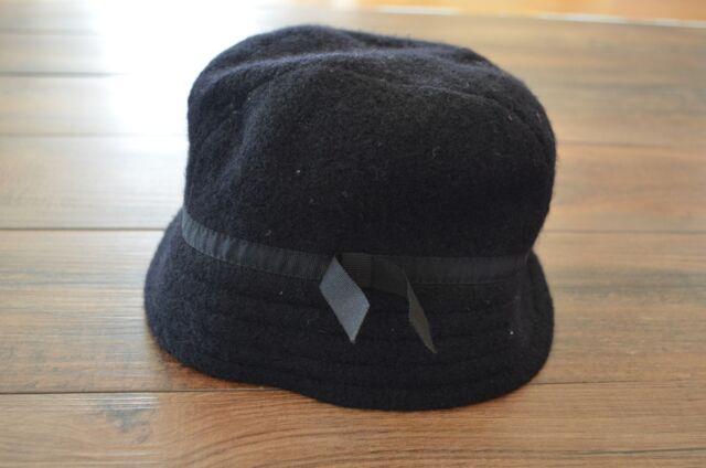Vintage Betmar New York Womens Hat 100% Wool Cloche Style Black  7ea303f6f9b