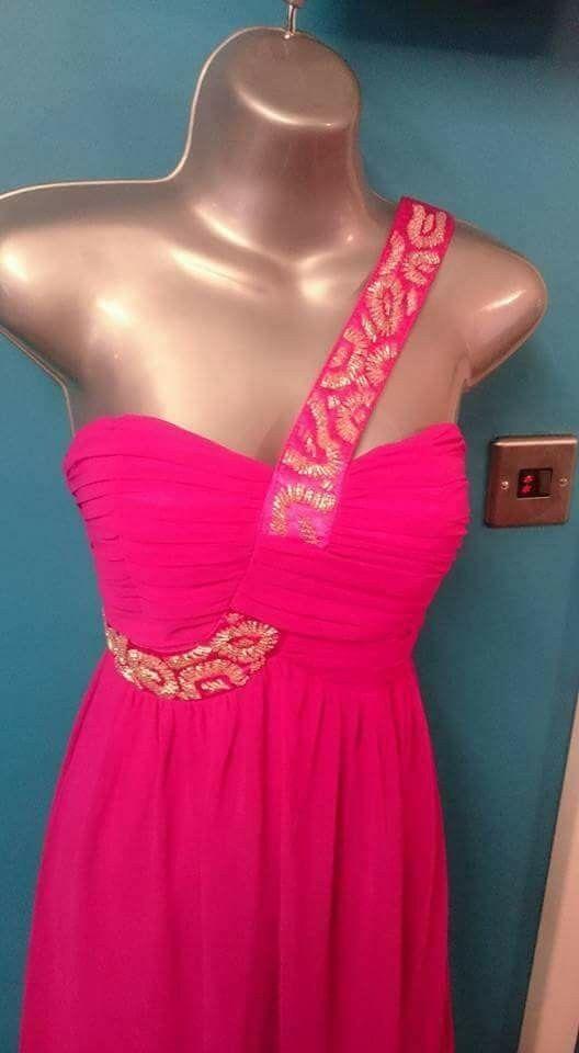 Jane Norman Pink maxi Long dress bridesmaid 8 8 8 10 s m wedding prom Christmas 00b454