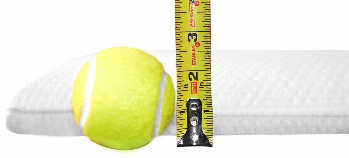 Ultra Slim (Thin) Sleeper Memory Foam Pillow for Side Sleepers - Free Shipping