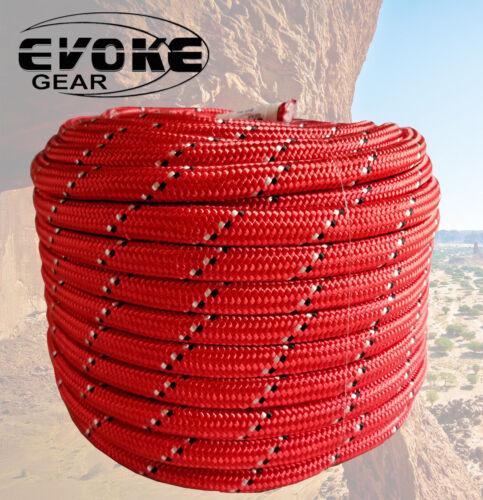 "Evoke Gear Climbing Pro Grade 1//2/""X 150/' Double Braided 100/% Polyester 32 Strand"