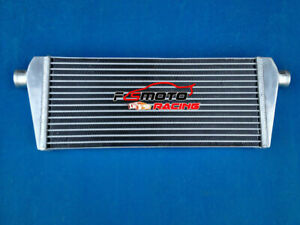 235X550X45mm-ALUMINUM-UNIVERSAL-FRONT-MOUNT-TURBO-INTERCOOLER-51mm-In-Out-pipe