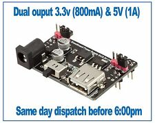 Breadboard Power Supply Module PSU 3.3V (800mA) and 5V (1A), Robotdyn