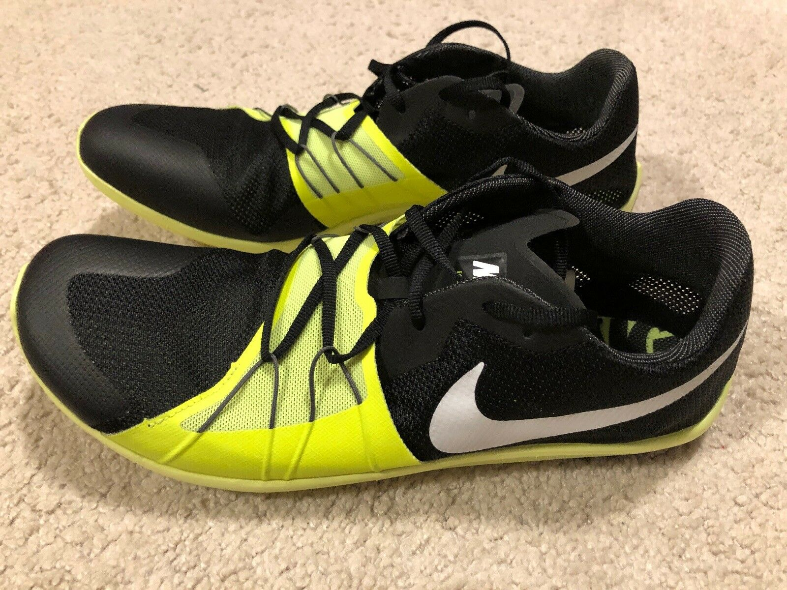 NWOB Nike Zoom Forever XC 5 Track Cross Country shoes Men's 11.5 Black Neon