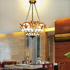 3*Lights Yellowish White+Bead Glass/Coloured Glaze/Iron Droplight/Hanging Lamp&