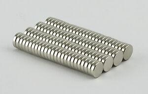 100 pcs Neodym Magnete 8 x 2 mm Super Magneten Minimagnete Büro Pinnwand