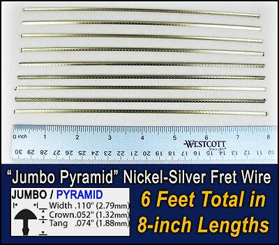 6 feet jumbo pyramid profile frets fret wire for guitars basses more 797734821338 ebay. Black Bedroom Furniture Sets. Home Design Ideas