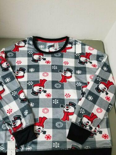 New Womens 2 Pc Frosty The Snowman Ultra Soft Pajamas Sleepwear.
