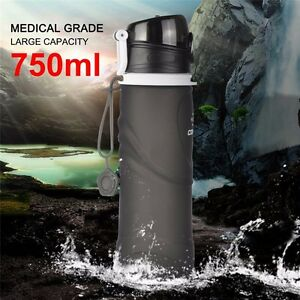 750ML-Foldable-Water-Bottles-Outdoor-Drinkware-Camping-Climbing-Hiking-Silicone