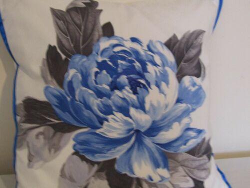 Designers Guild Floral 100/% Coton Tissu Charlottenberg Cobalt Housse de coussin