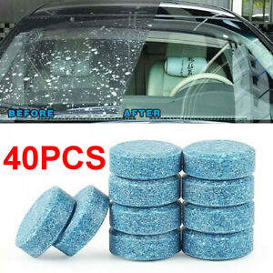 40X Car Windshield Washer Cleaning Solid Effervescent Tablets Accessories US
