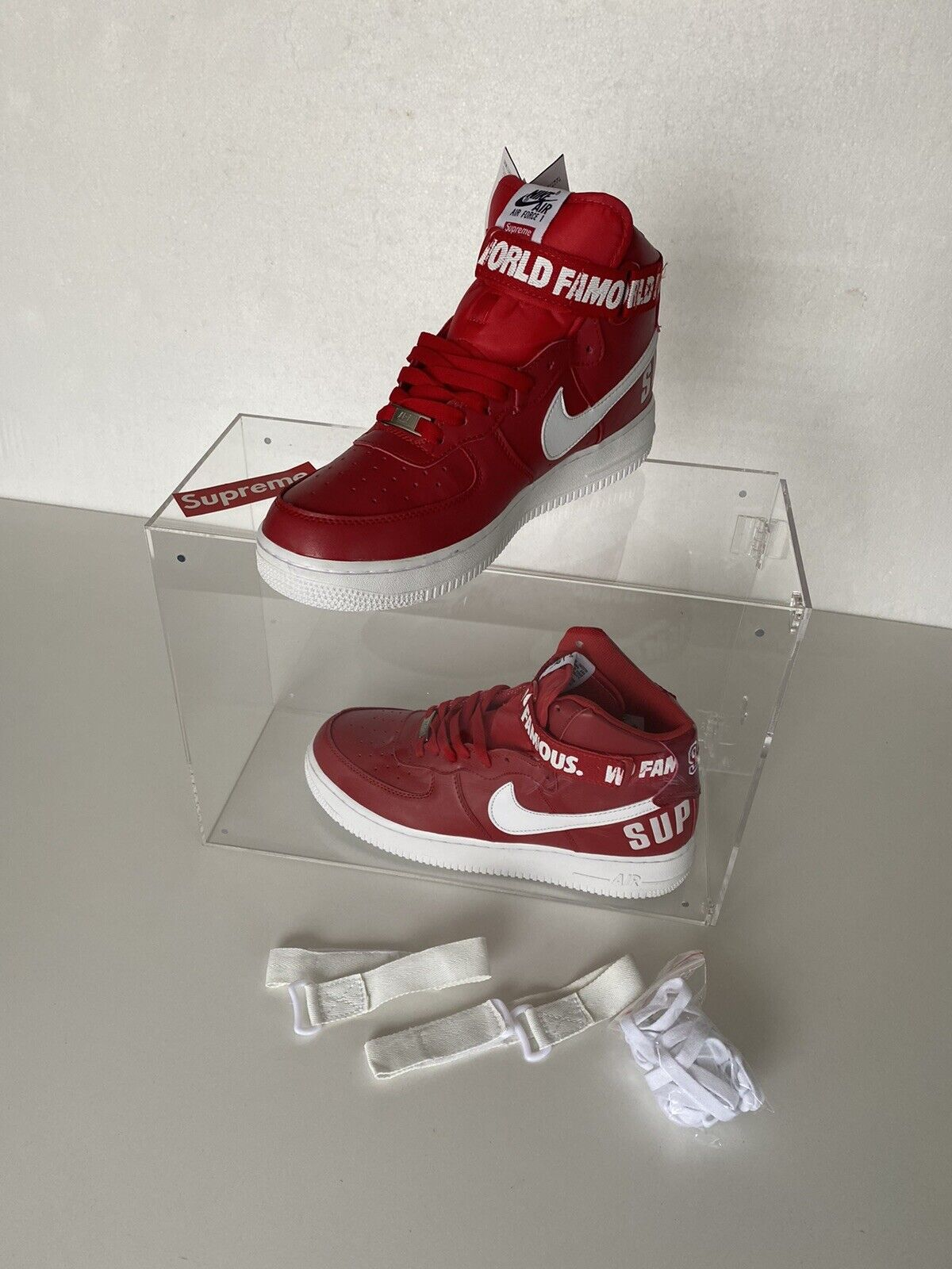 Nike Air Force 1 Supreme World Famous (Red) UK 10 US 11 EUR 45
