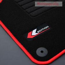 Mattenprofis Velours Logo Fußmatten für VW Polo V 6R 6C ab Bj.06/2009 - rot
