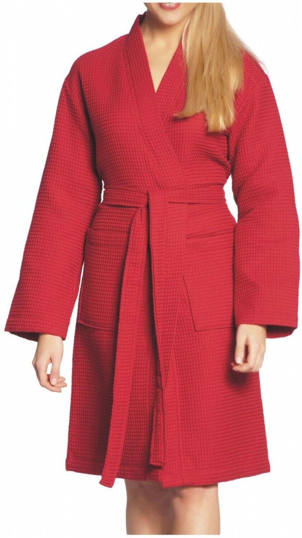 4d9d0922c442d Vossen unisex waffelpique brevemente bata elección sauna abrigo algodón  S-XXL elección bata de color 6e4a0a